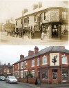 Corner of Barrow Road and Farnham Street – then and now