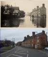 Leicester Road near School Lane – then and now