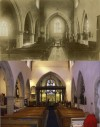 Interior of Quorn St Bartholomew's Parish Church – 1905 and 2011