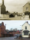 Corner of School Lane and Leicester Road – then and now
