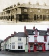 Royal Oak, corner of Meeting Street and High Street – then and now