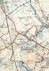 Map of Quorn, 1950s