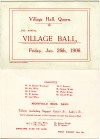 Village Hall Ball Ticket 1906