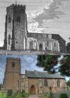 Quorn Church - then and now