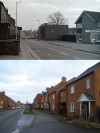 Leicester Road, Wakerley Court and The Mills area - then and now
