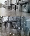 Floods on Leicester Road, early 1970s