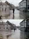 Floods at Quorn Cross, early 1970s