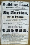 Sale of building land, 11th April 1825, Sarson Street, Barrow Road, Loughborough Road, Castledine Street