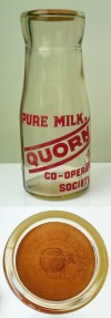 Quorn Co-op milk bottle