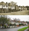 Elms Drive, Quorn – then and now
