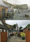 A Cottage Yard at Quorn � then and now