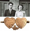 Mizpah brooch – Arthur and Doris Green, WW2