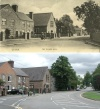 Quorn Village Hall - then and now c1900 and 2009