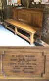 Facer family memorial bench – St Bartholomew's Church, Quorn