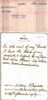Quorn WW1 Roll of Honour - Sydney Francis Whysall