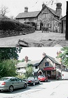 Troops at The Curzon Arms - then and now
