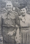 Sergt. L Green and Miss J Bowler 1944