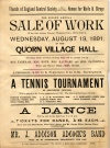 Quorn Village Hall Poster 1891