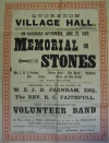 Laying of village hall memorial stones - June 29th 1889
