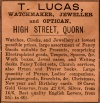 Advertisement by T. Lucas, Quorn, 1891