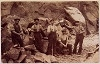 Men working at Cocklow quarry c1910
