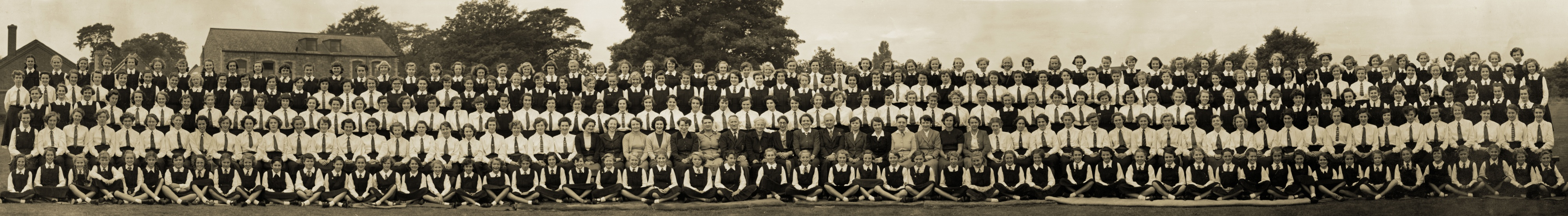 Quorn Rawlins Grammar School panoramic photograph, 1953