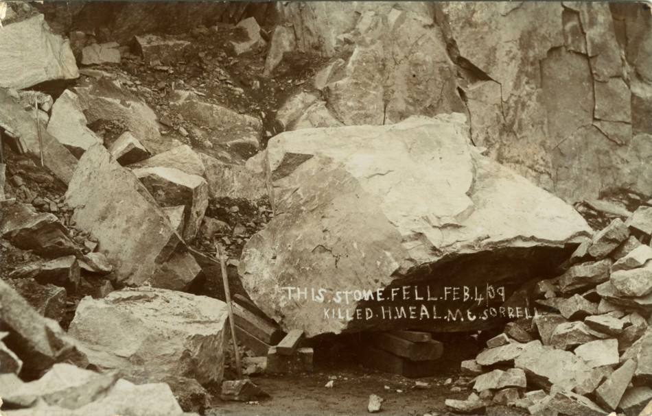 Postcard – Mountsorrel Quarry 1909