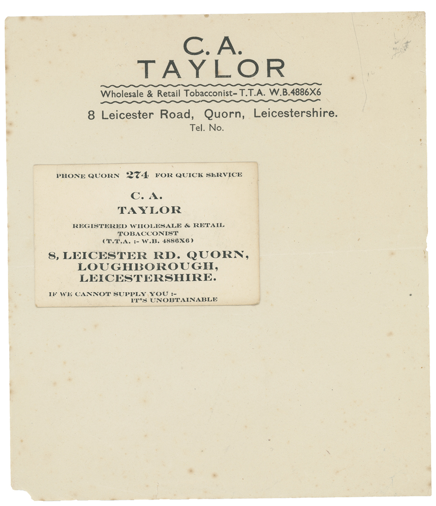 C. A. Taylor, Tobacconist, Quorn